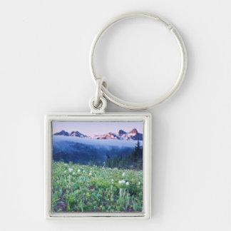 USA, Washington, Mt. Rainier National Park 4 Silver-Colored Square Keychain