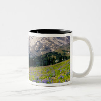 USA, Washington, Mt. Rainier National Park. Two-Tone Coffee Mug