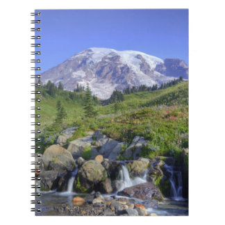 USA, Washington, Mt. Rainier NP, Mt. Rainier and 2 Notebook