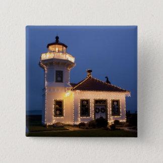 USA, Washington, Mukilteo. Mukilteo Lighthouse Pinback Button