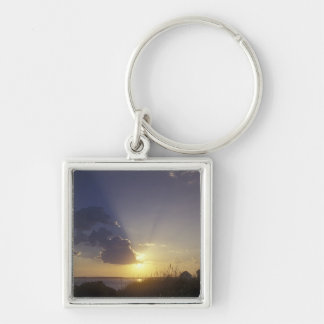 USA, Washington, near Port Townsend. Point Silver-Colored Square Keychain