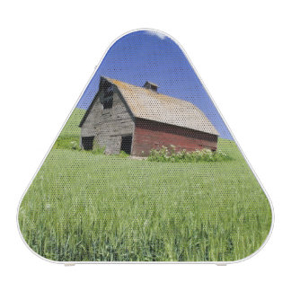 USA, Washington, Old Red Barn in the Spring Bluetooth Speaker