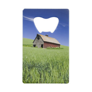 USA, Washington, Old Red Barn in the Spring Wallet Bottle Opener