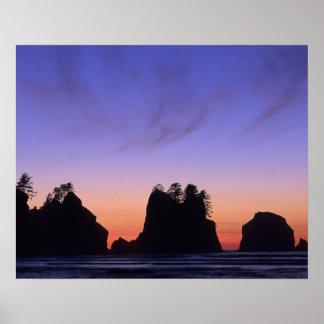 USA, Washington, Olympic National Park, Shi-shi Poster