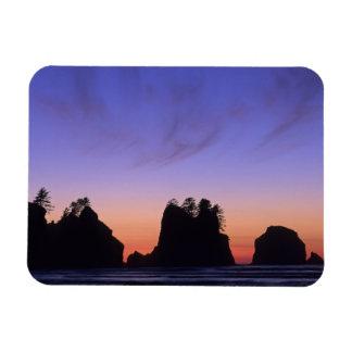 USA, Washington, Olympic National Park, Shi-shi Rectangle Magnets