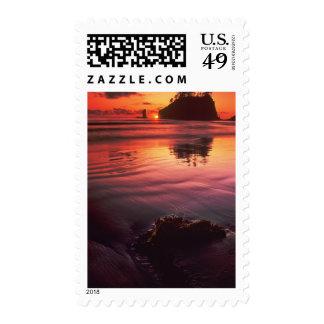 USA, Washington, Olympic National Park. Sunset Postage Stamp
