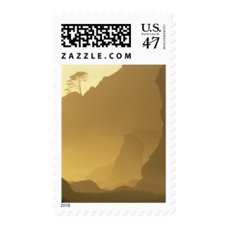 USA, Washington, Olympic Nat'l Park, Sunset, Postage