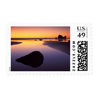 USA, Washington, Olympic Peninsula Postage Stamp