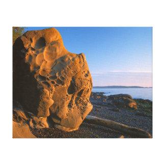 USA, Washington, Orcas Island, Boulder Canvas Print