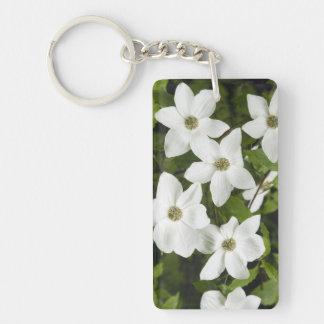 USA, Washington, Pacific Dogwood, Cornus Double-Sided Rectangular Acrylic Keychain