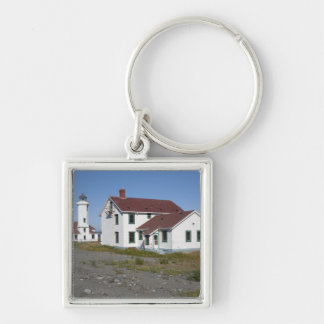 USA, Washington, Port Townsend, Point Wilson Silver-Colored Square Keychain