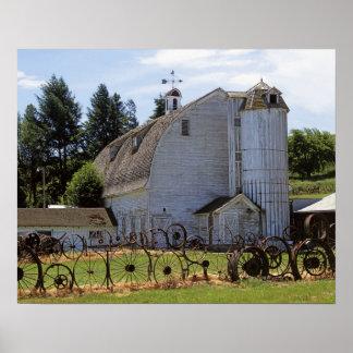 USA, Washington, Pullman, Barn Poster