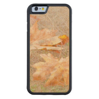 USA, Washington, Quinault. Maple Leaves Carved Maple iPhone 6 Bumper Case