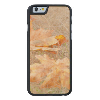 USA, Washington, Quinault. Maple Leaves Carved Maple iPhone 6 Case