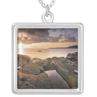 USA, Washington, San Juan Islands.  A dramatic 2 Silver Plated Necklace