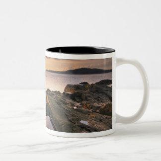 USA, Washington, San Juan Islands.  A dramatic 2 Two-Tone Coffee Mug
