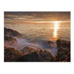 USA, Washington, San Juan Islands.  A dramatic Postcard