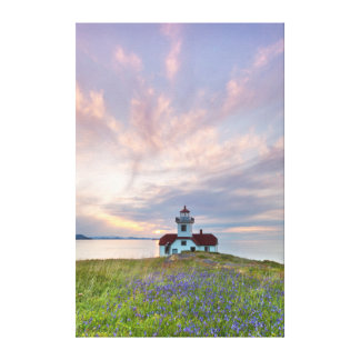 USA, Washington, San Juan Islands. Sunset Canvas Print
