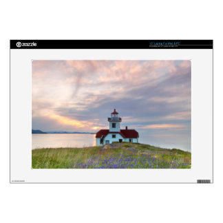 USA, Washington, San Juan Islands. Sunset Laptop Skins