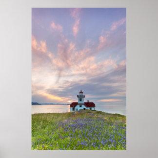 USA, Washington, San Juan Islands. Sunset Poster