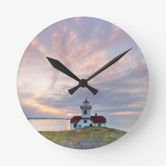 USA, Washington, San Juan Islands. Sunset Round Clock