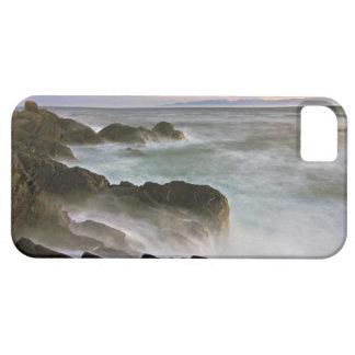 USA, Washington, San Juan Islands.  Waves crash iPhone SE/5/5s Case