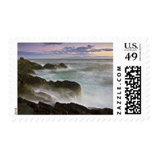 USA, Washington, San Juan Islands.  Waves crash Postage