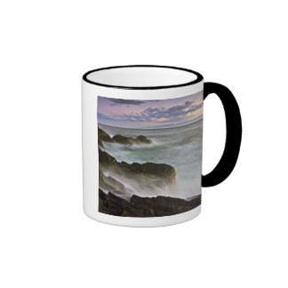 USA, Washington, San Juan Islands.  Waves crash Ringer Mug