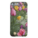 USA, Washington, Seabeck. Tulips line garden Barely There iPhone 6 Case