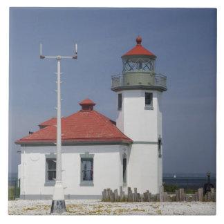 USA, Washington, Seattle, Alki Point Lighthouse, 2 Tile