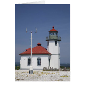 USA, Washington, Seattle, Alki Point Lighthouse, Greeting Card