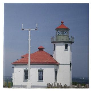 USA, Washington, Seattle, Alki Point Lighthouse, Ceramic Tile