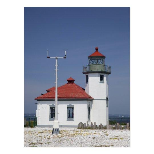 USA, Washington, Seattle, Alki Point Lighthouse, Postcard