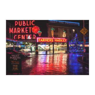 USA, Washington, Seattle, Pike Place Market Canvas Print