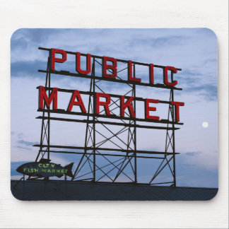 USA, Washington, Seattle, Pike Street Market Mouse Pad