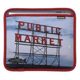 USA, Washington, Seattle, Pike Street Market Sleeves For iPads