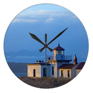USA, Washington, Seattle, Puget Sound Large Clock