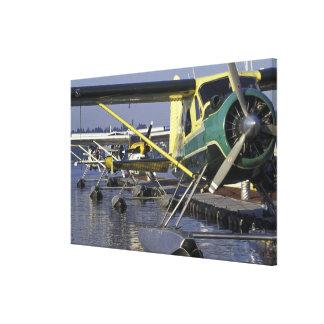 USA, Washington, Seattle, Seaplanes docked on Gallery Wrap Canvas