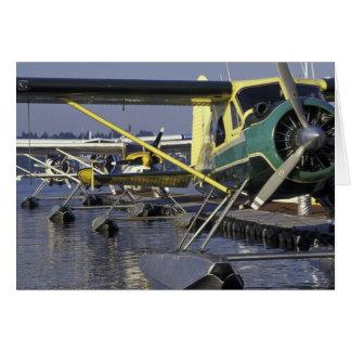 USA, Washington, Seattle, Seaplanes docked on Card