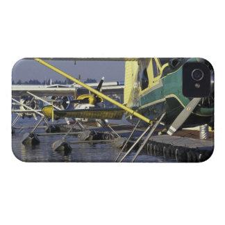 USA, Washington, Seattle, Seaplanes docked on iPhone 4 Case-Mate Cases