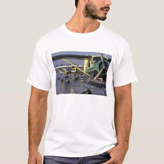 USA, Washington, Seattle, Seaplanes docked on T-Shirt