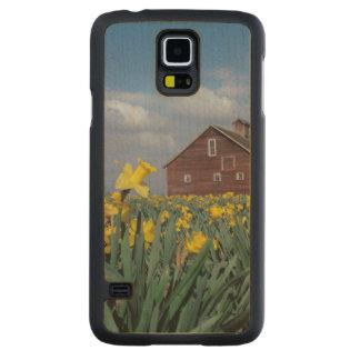 USA, Washington, Skagit Valley. Field of Carved Maple Galaxy S5 Slim Case