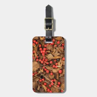 USA, Washington, Spokane County, Hawthorn Leaves Bag Tag