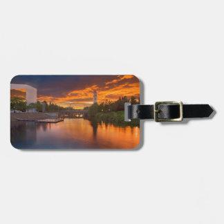 USA, Washington, Spokane, Riverfront Park Travel Bag Tag