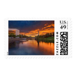 USA, Washington, Spokane, Riverfront Park Postage Stamp