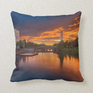 USA, Washington, Spokane, Riverfront Park Throw Pillow