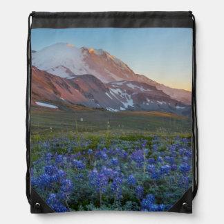 USA, Washington State. Alpine Lupine Cinch Bags