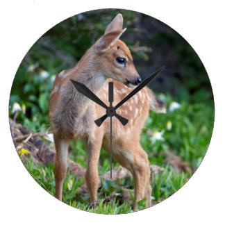 USA Washington State Blacktail Deer Fawn Wall Clocks