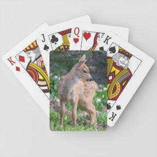 USA Washington State Blacktail Deer Fawn Poker Cards