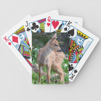 USA Washington State Blacktail Deer Fawn Bicycle Card Deck